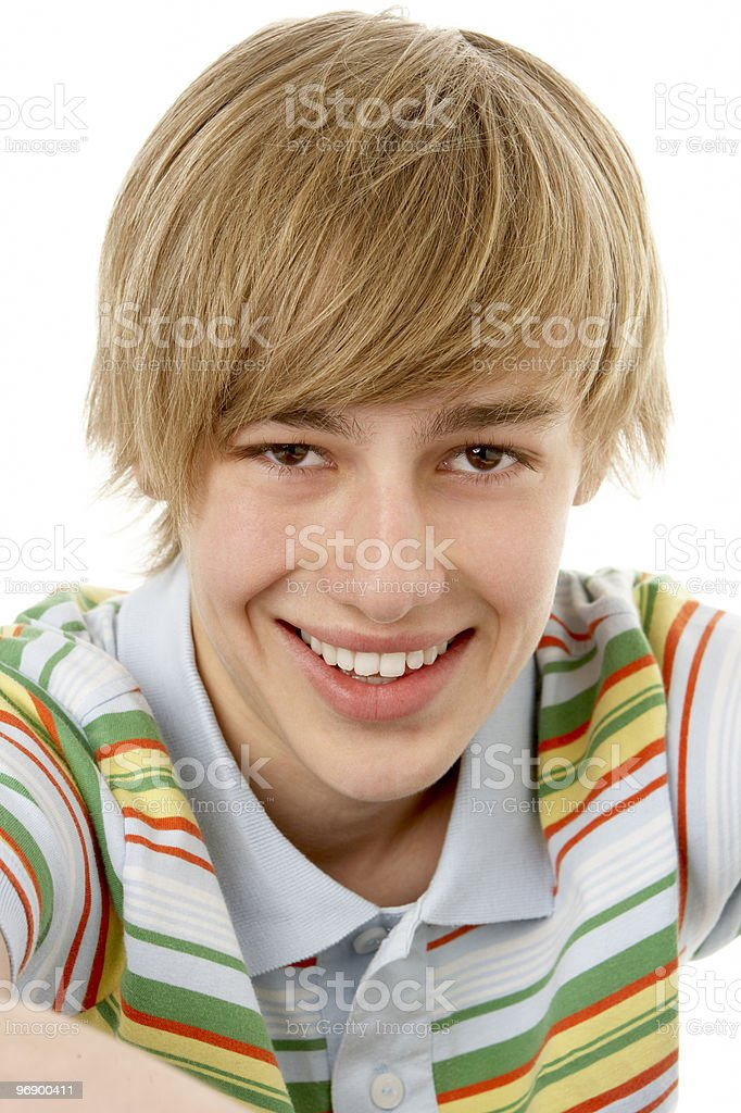 Portrait Of Smiling Teenage Boy royalty-free stock photo