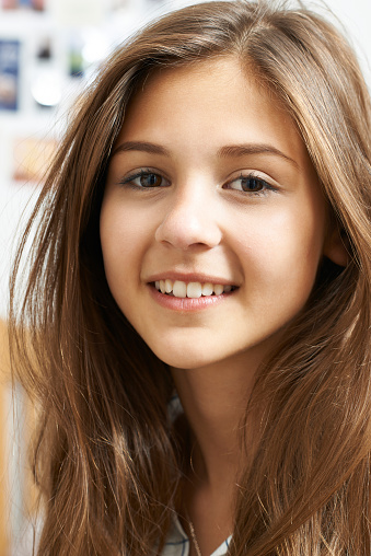 Beautiful Smiling Young Woman Stock Photo - Image of cute
