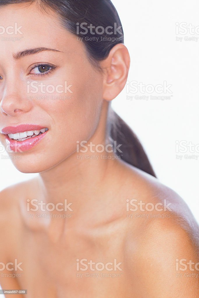Portrait of smiling woman royalty free stockfoto