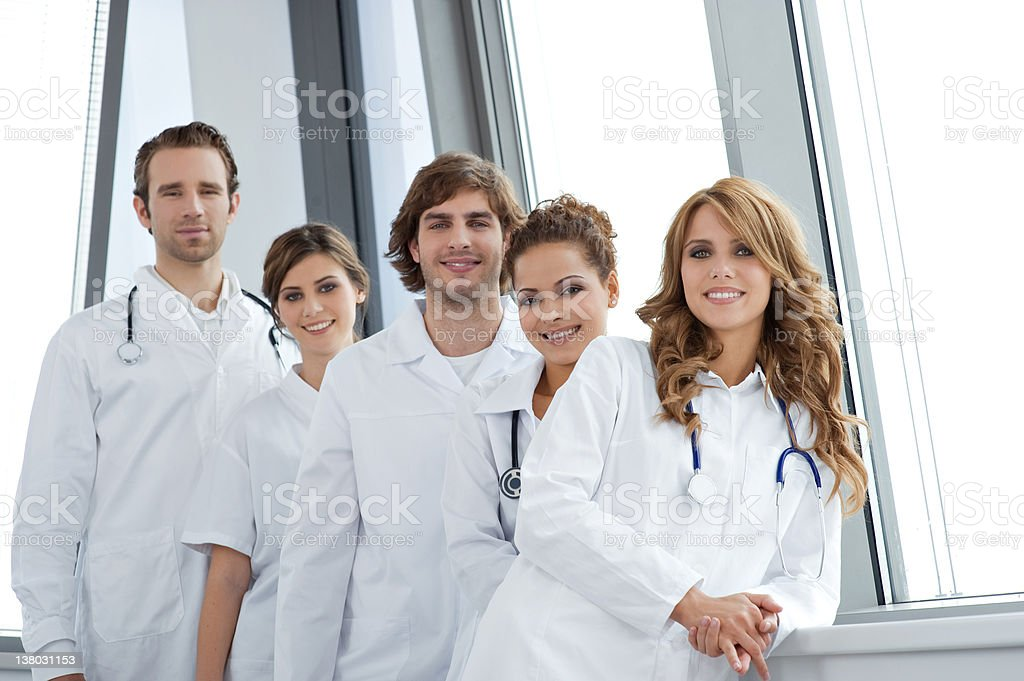 Portrait of smiling young doctors royalty-free stock photo