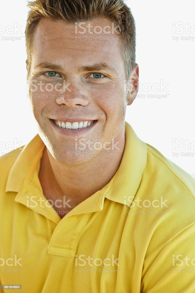 Portrait of smiling young man royalty-free 스톡 사진