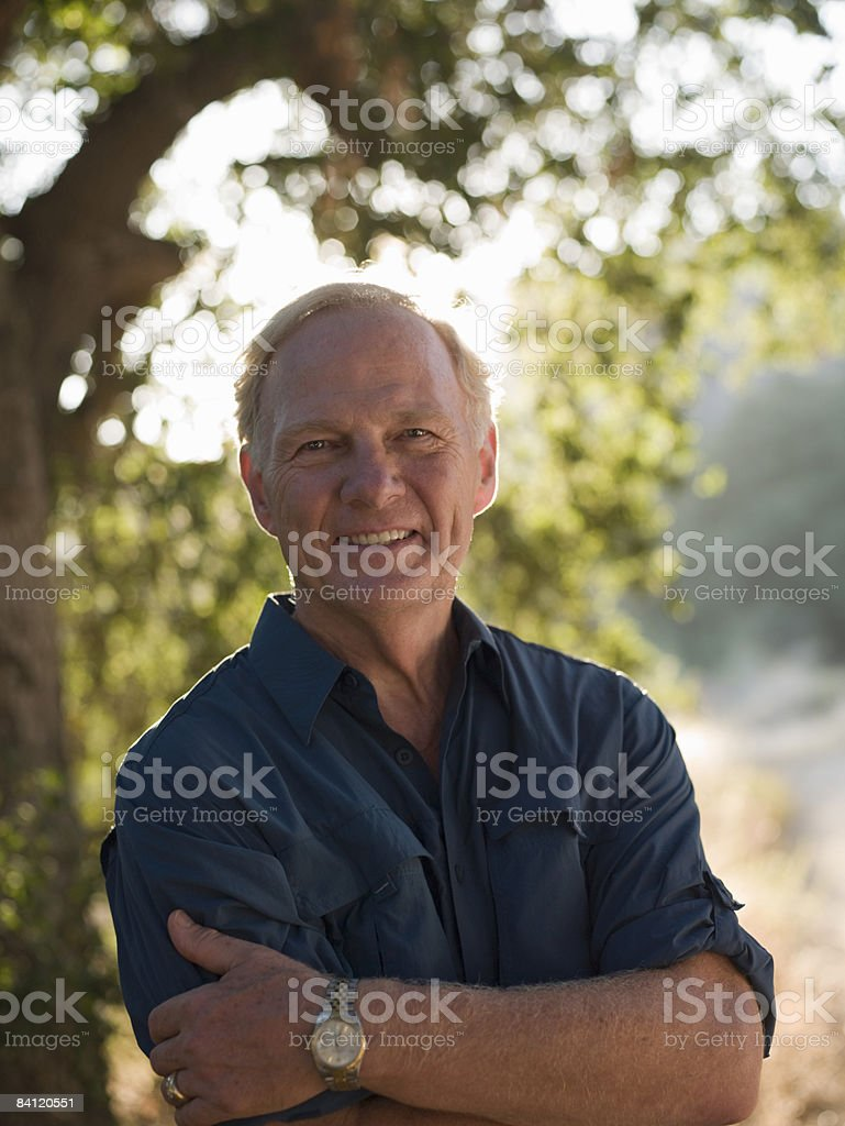Portrait of smilng man  royalty-free stock photo
