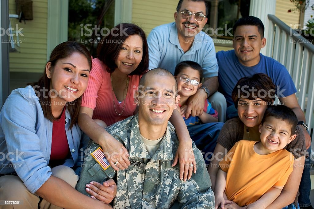 Portrait of Soldier in Uniform  royalty free stockfoto