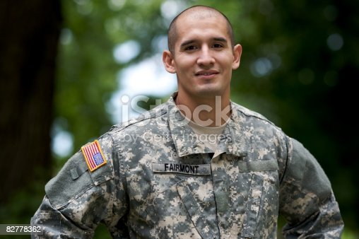 istock Portrait of Soldier in Uniform  82778362