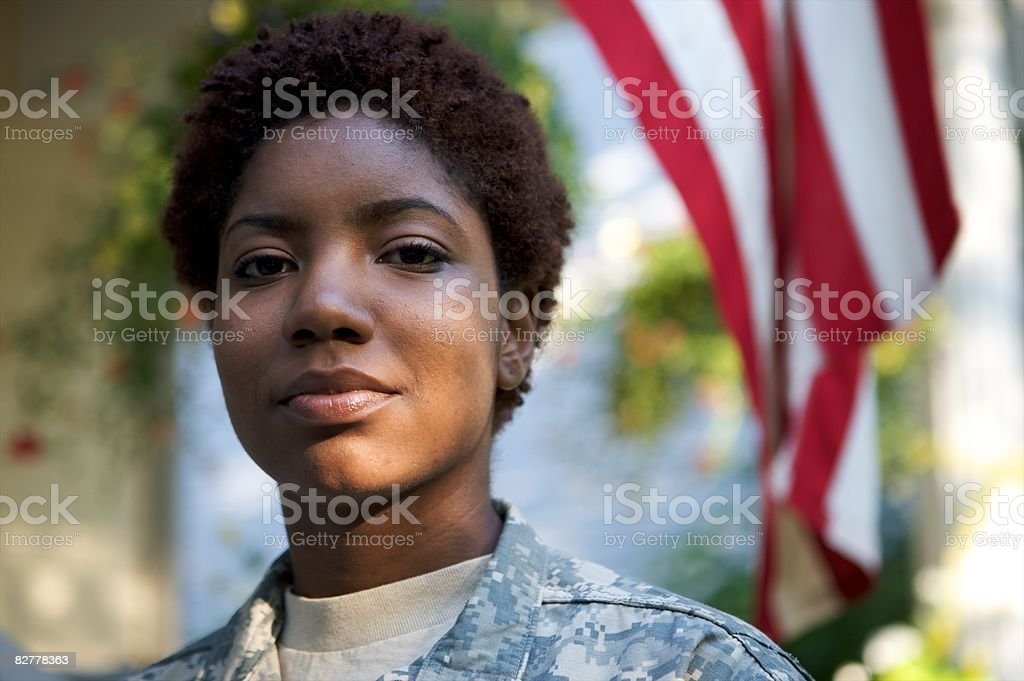 Portrait of Soldier in Uniform  foto stock royalty-free