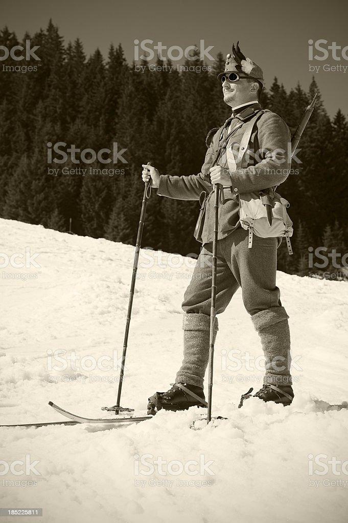 Porträt von Soldaten Skifahrer – Foto