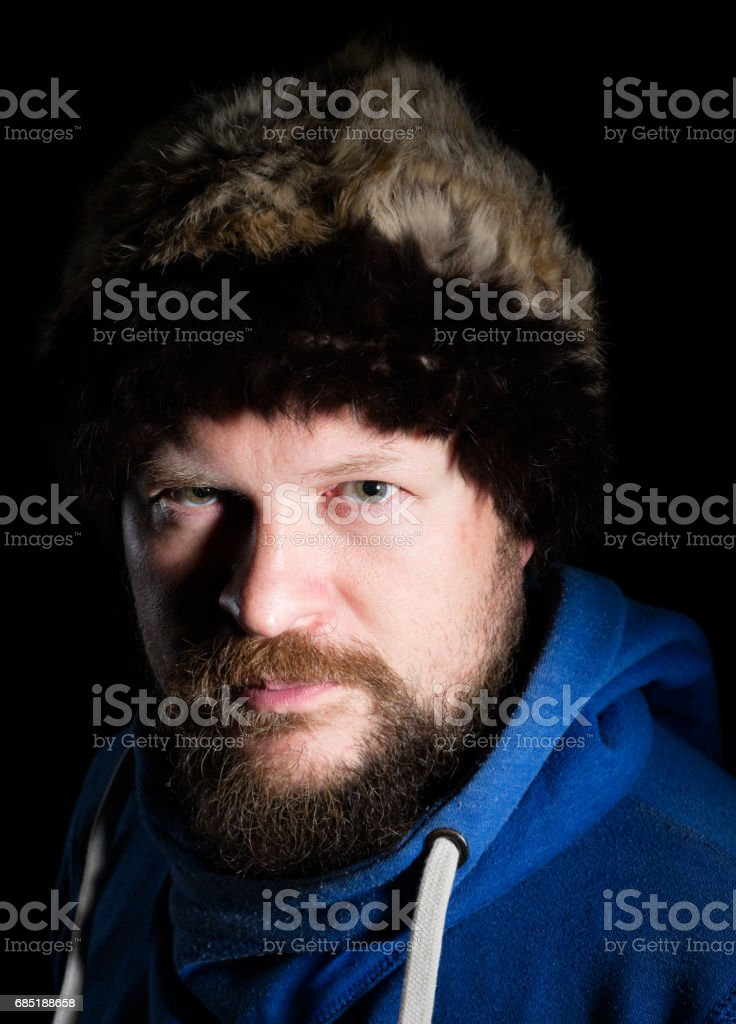 Portrait of solid nord hunter royalty-free stock photo