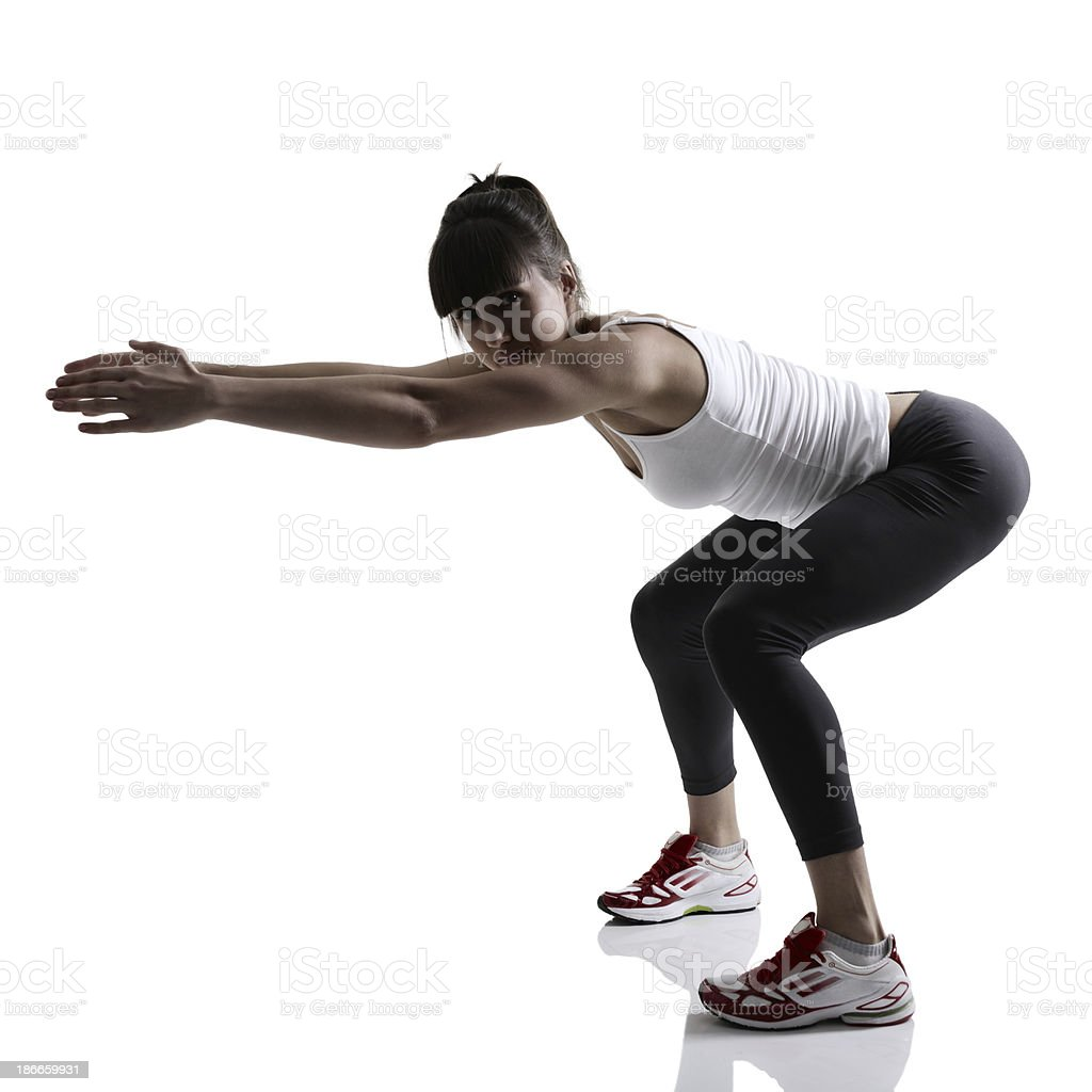 portrait of sport girl doing yoga stretching royalty-free stock photo