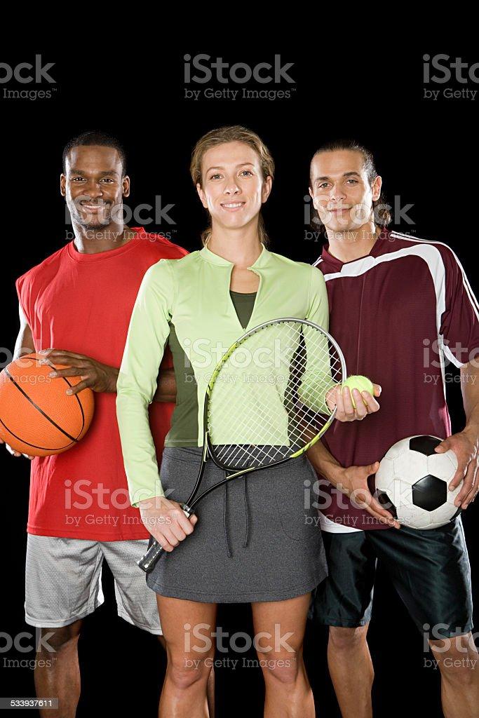 Portrait of sports people stock photo