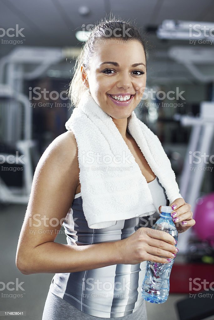 Portrait of Sporty girl royalty-free stock photo