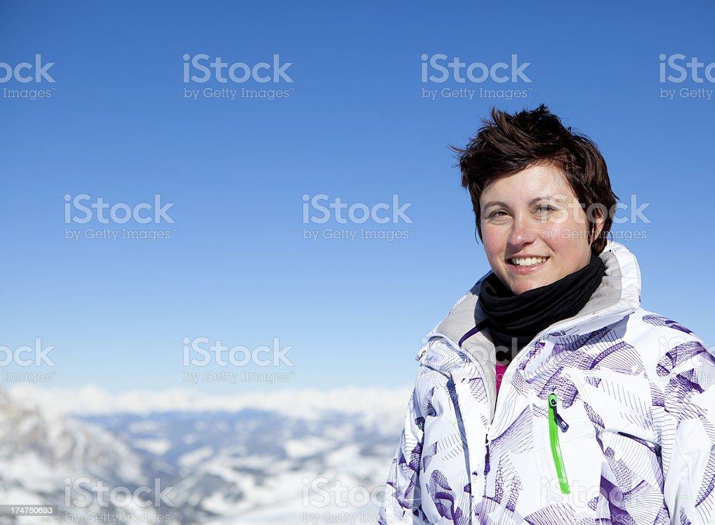 Portrait of sporty woman royalty-free stock photo