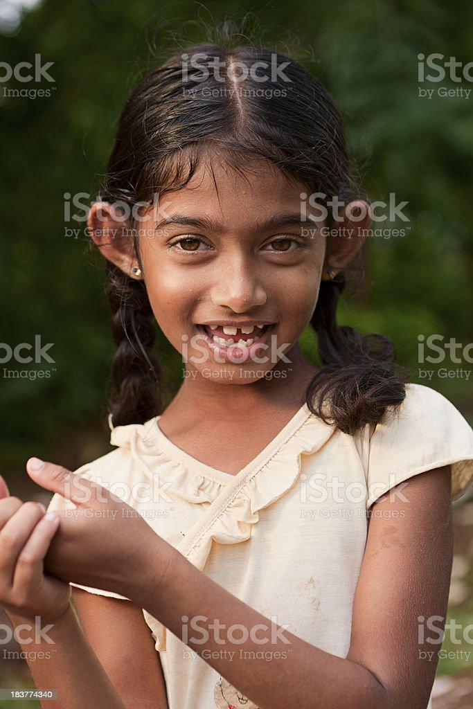 Portrait of Sri Lankan young girl stock photo