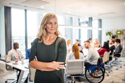 660681964 istock photo Portrait of Standing Businesswoman in Conference Room 1202520724