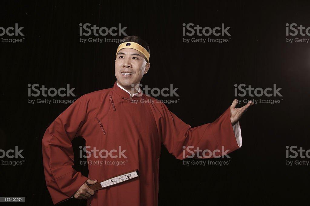 portrait of storytelling actor royalty-free stock photo