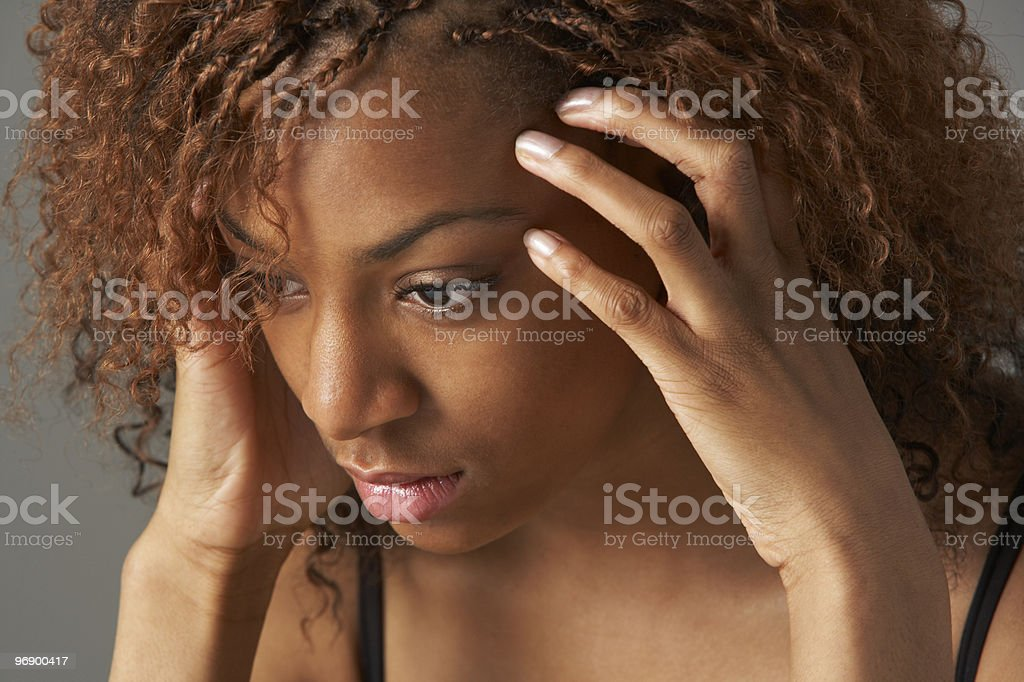 Portrait Of Stressed Teenage Girl royalty-free stock photo