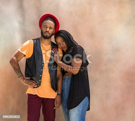 Portrait Of Stylish Black Couple Stock Photo & More Pictures of Accuracy