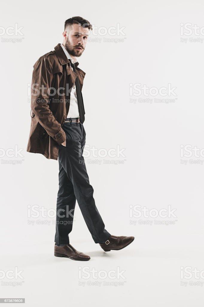 Portrait de beau jeune homme élégant photo libre de droits