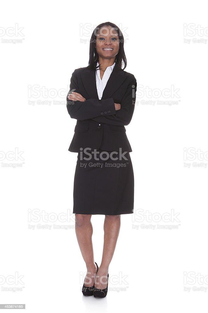 Portrait of successful businesswoman stock photo