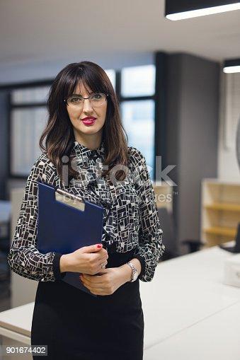 629805626 istock photo Portrait of successful businesswoman 901674402