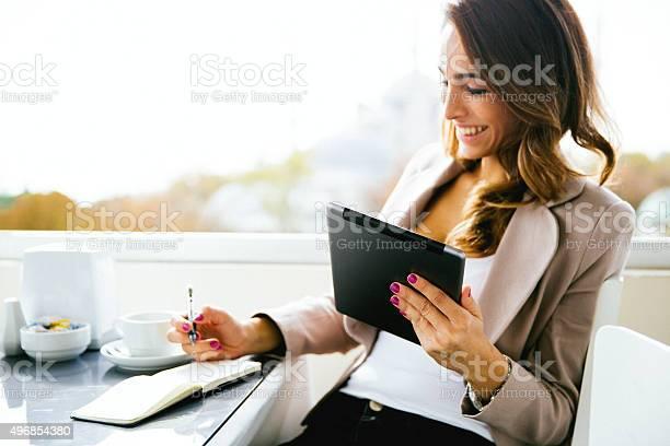 Portrait of successful businesswoman working at caf picture id496854380?b=1&k=6&m=496854380&s=612x612&h=oiiteo ixkowhzxc3k1dapq0rv4iahkalztn2zrv6do=
