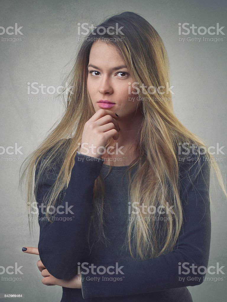 Portrait of successful young woman stock photo