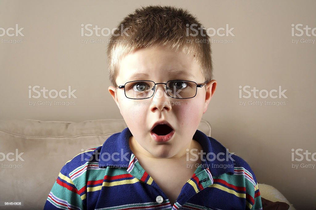 portrait of surprised the boy's small royalty-free stock photo