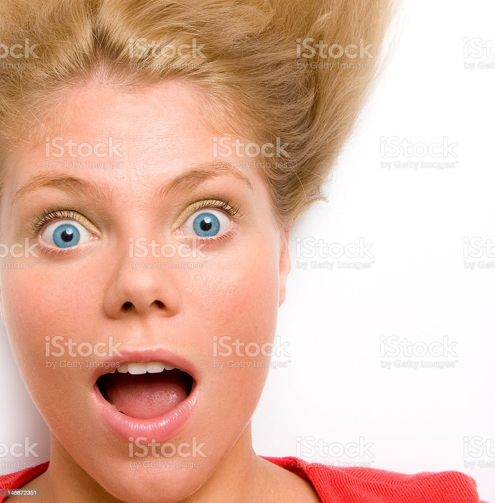 Portrait of surprised woman royalty-free stock photo