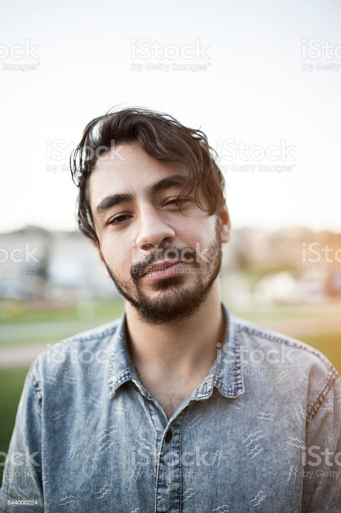 Portrait of syrian young man stock photo