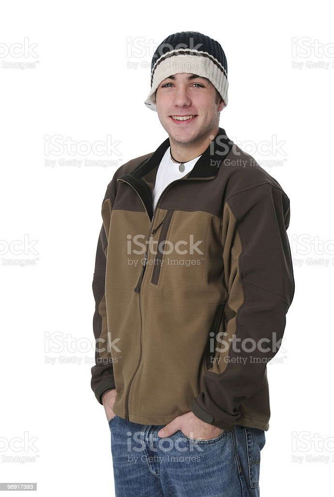 Portrait of teen boy smiling royalty-free stock photo
