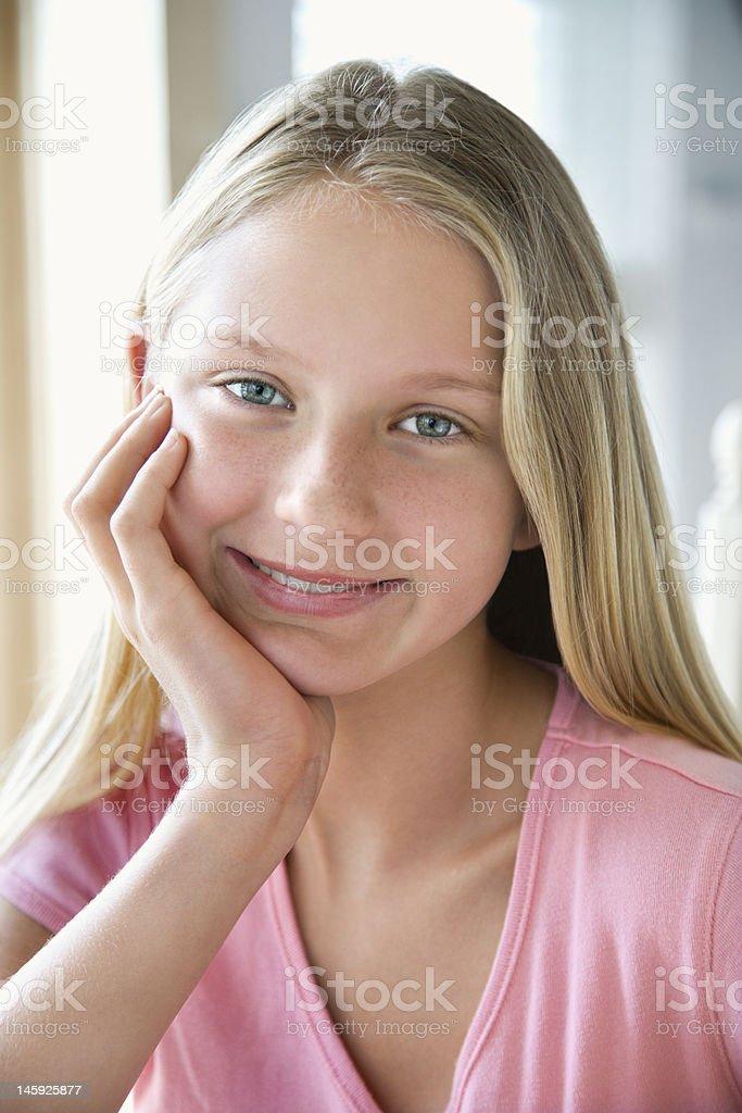 Portrait of teen girl. stock photo