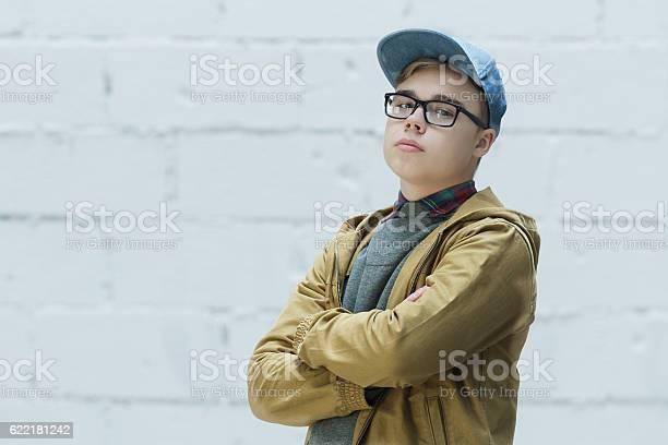 Porträt Von Teenager Tragen Baumwolle Blau Baseballkappe Stockfoto und mehr Bilder von Teenager-Alter