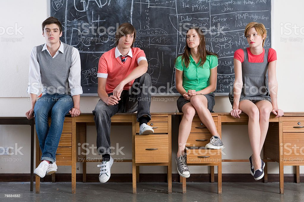 Portrait of teenagers royalty-free stock photo