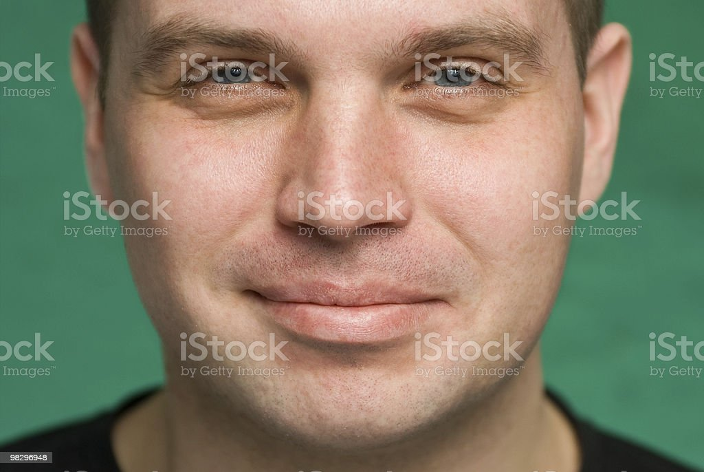 Portrait of th smiling young man royalty-free stock photo