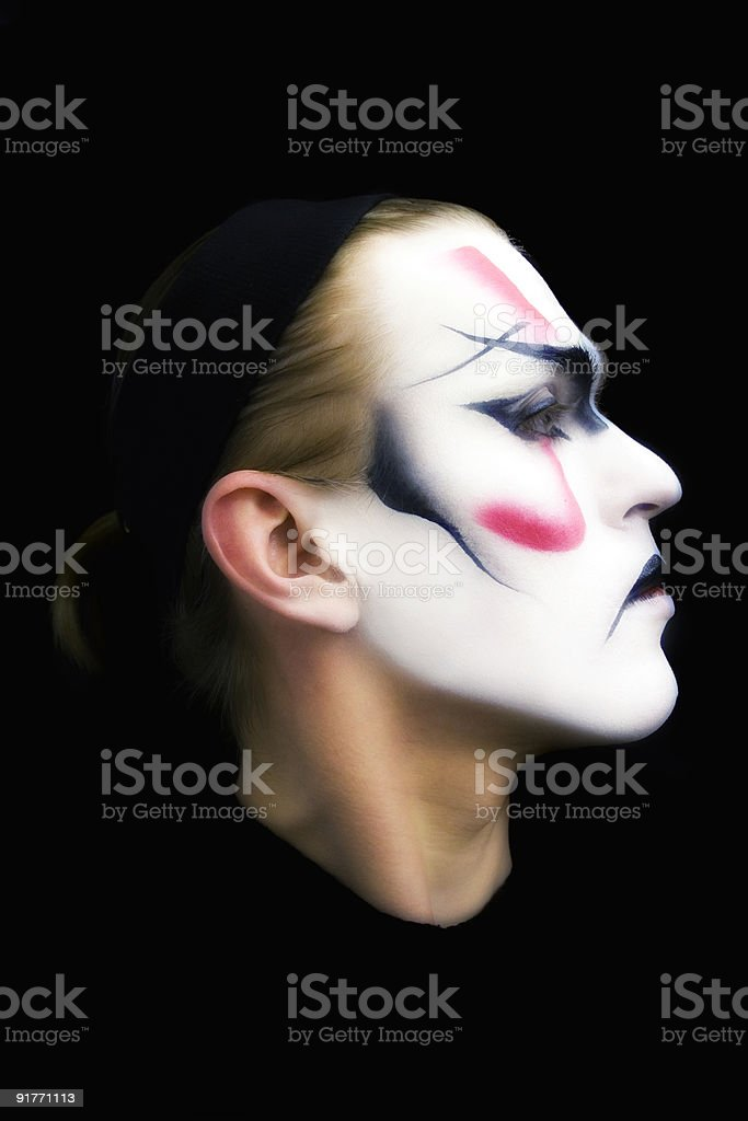 Portrait of the actor Kabuki royalty-free stock photo