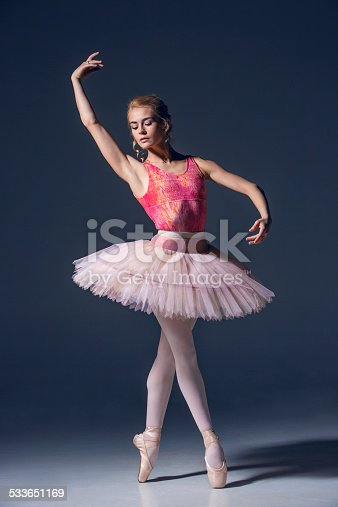 476021886 istock photo Portrait of the ballerina in ballet pose 533651169