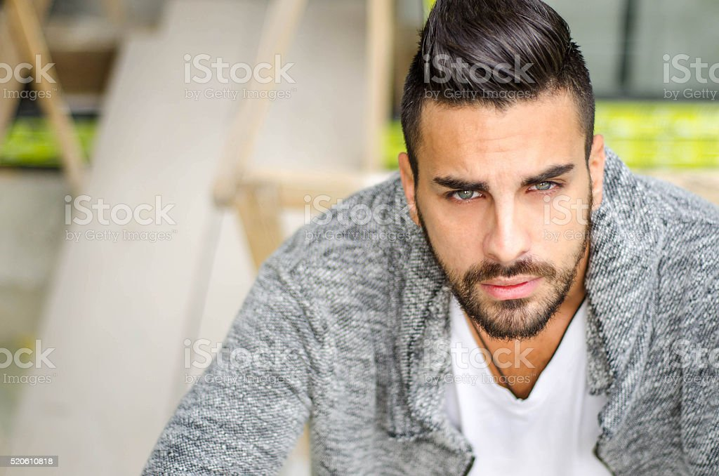 Portrait of the beautiful black man stock photo