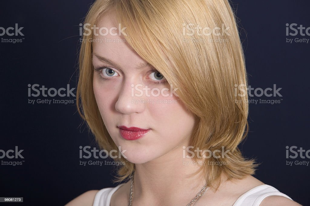 Portrait of the beautiful blonde royalty-free stock photo