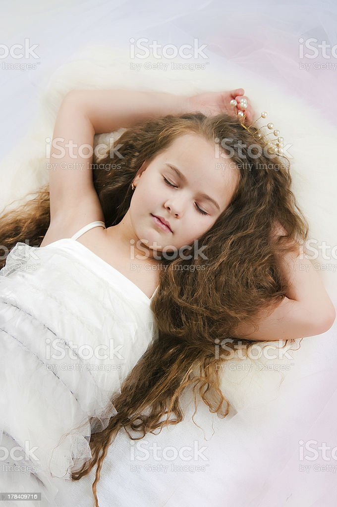 Portrait of the beautiful girl stock photo