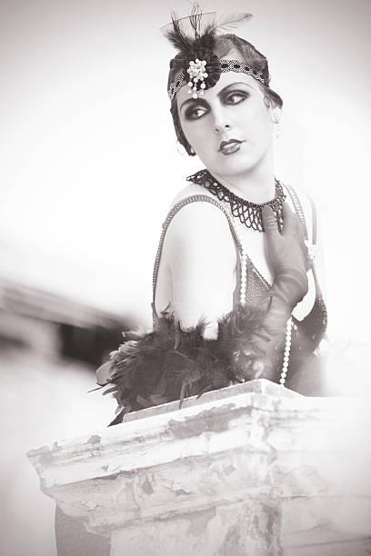 Porträt der schönen Retro Frau der 1920 er Jahre s-1930 – Foto
