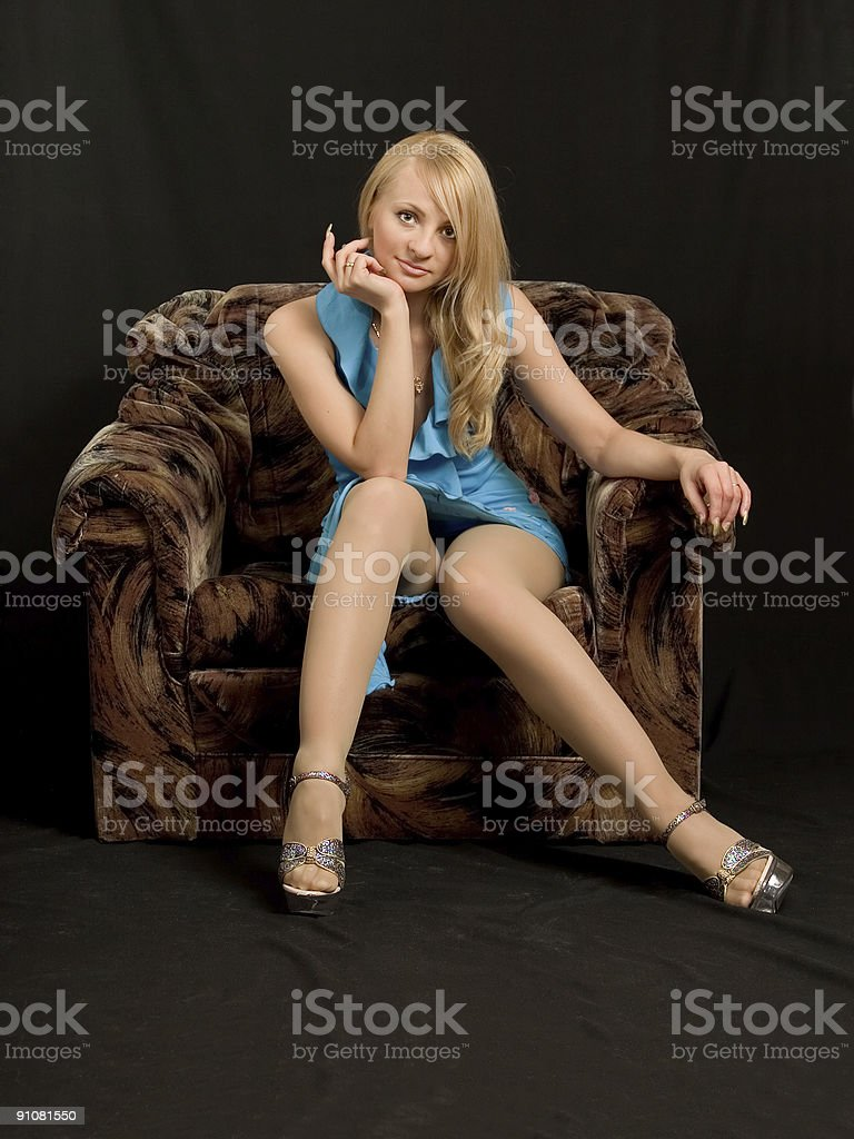 Portrait of the beautiful woman. stock photo