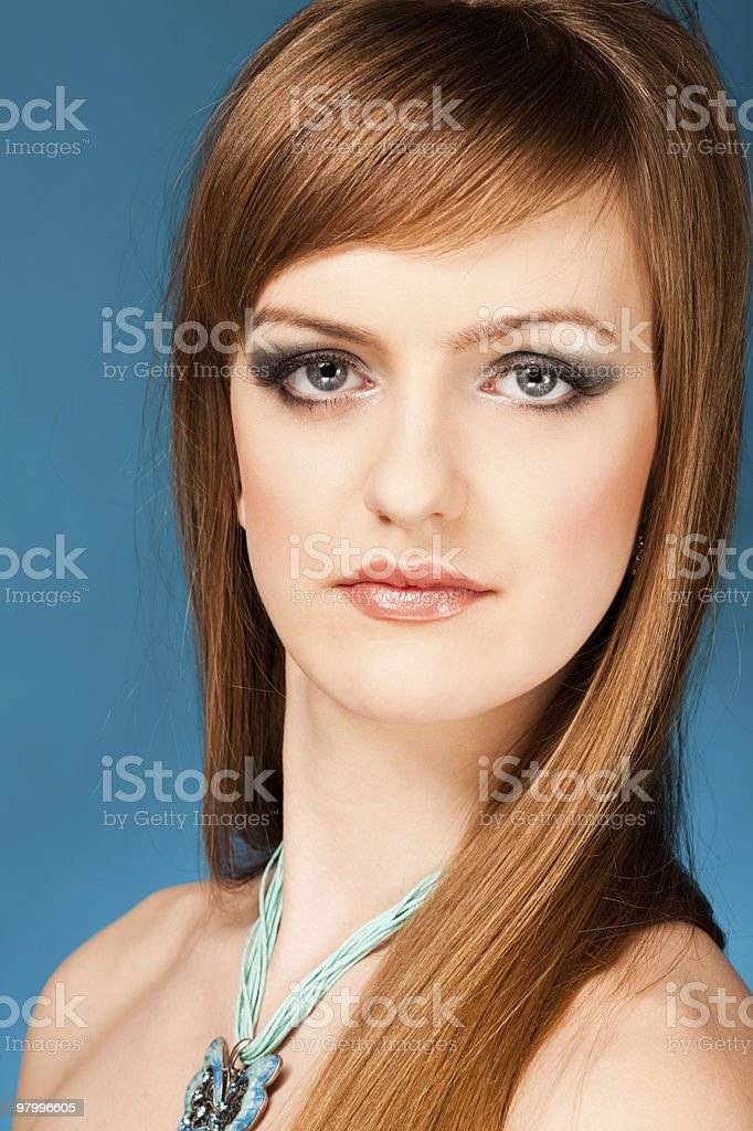 portrait of the beautiful woman royalty-free stock photo
