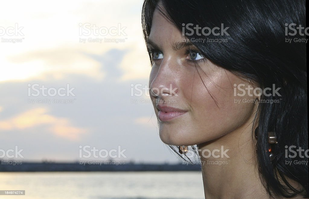 Portrait of the Beautiful Young Woman royalty-free stock photo