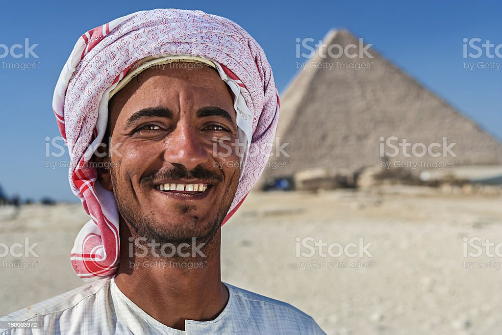 Portrait of the Bedouin royalty-free stock photo