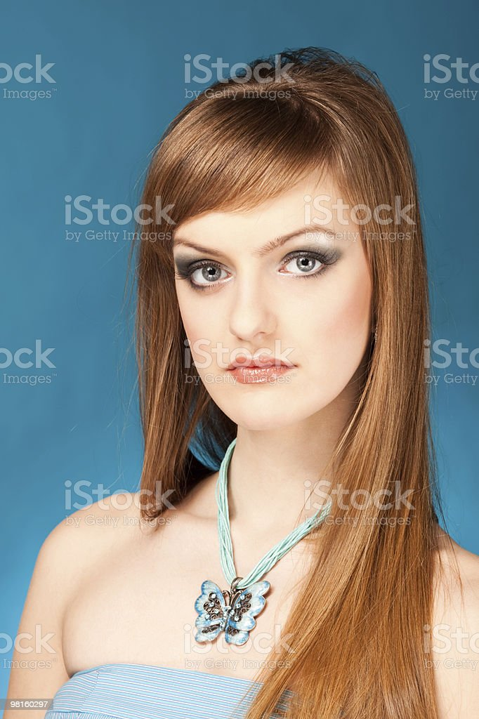 portrait of the blond woman royalty-free stock photo