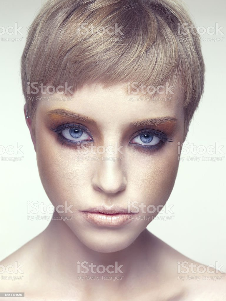 Portrait of the blond women royalty-free stock photo