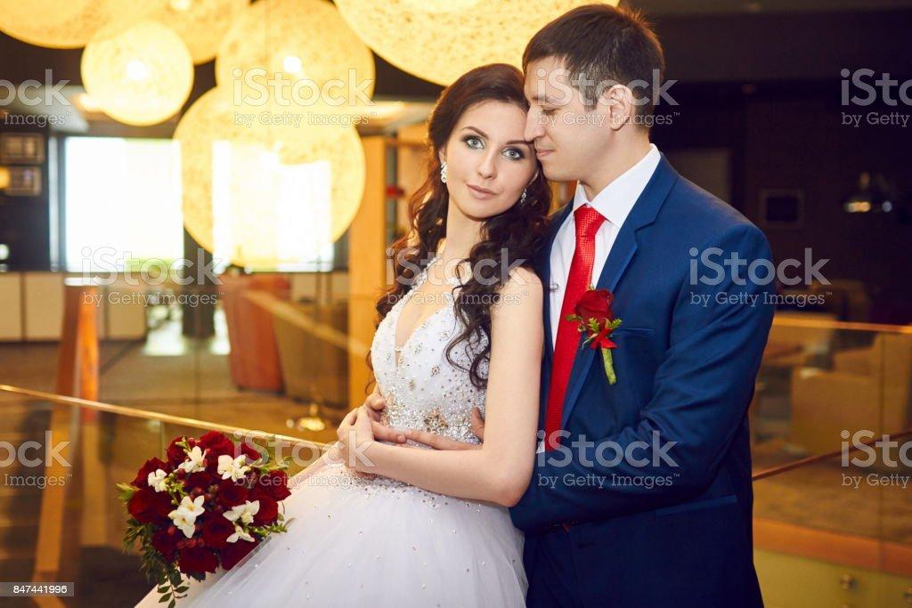 Portrat Von Braut Und Brautigam Vor Der Hochzeit Paar In Liebe