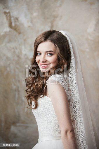 Portrait Of The Bride With Big Beautiful Eyes Stock Photo & More Pictures of 2015
