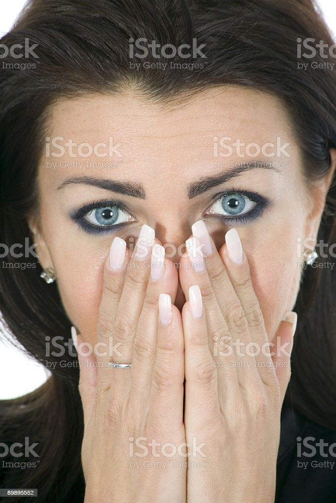 Портрет брюнетка с голубой глаз Стоковые фото Стоковая фотография