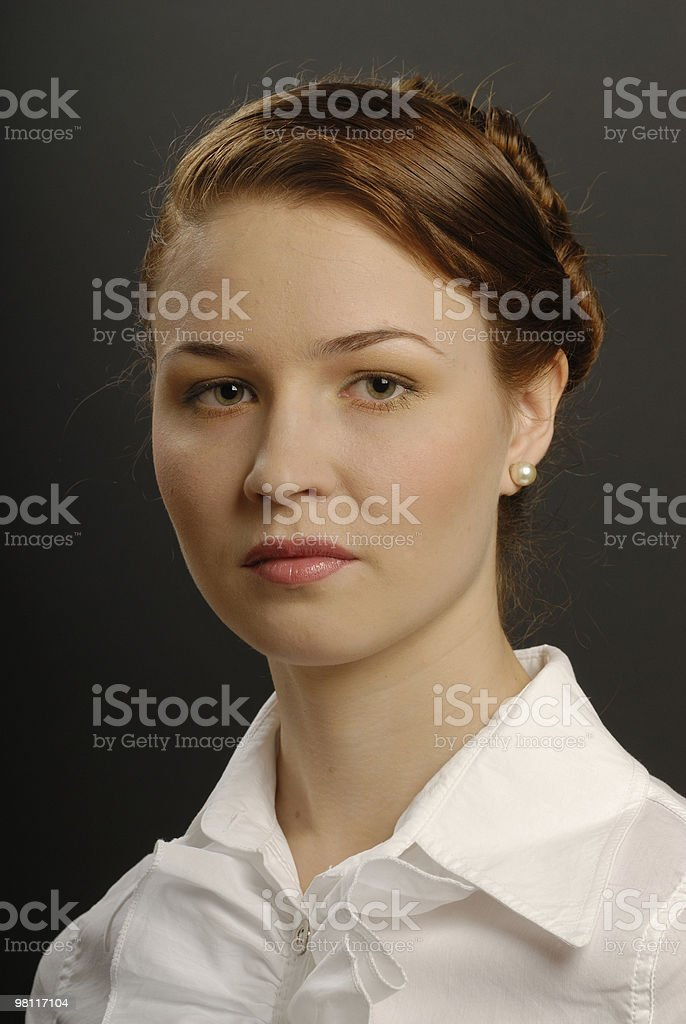 Portrait of the business woman royalty-free stock photo