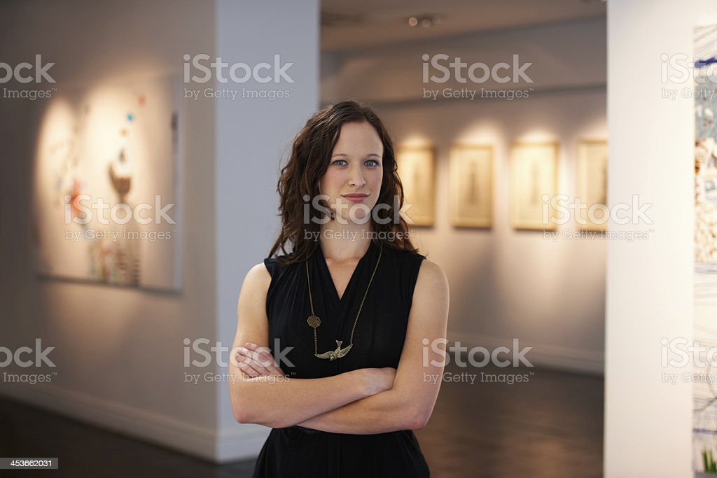 Portrait of the curator stock photo